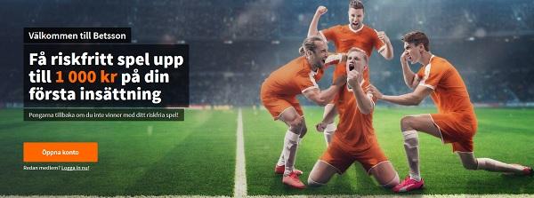 Betsson fotbollsbonus perfekt för Fotbolls-VM
