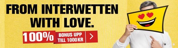 Interwetten nytt spelbolag i Sverige med 1000 kr bonus