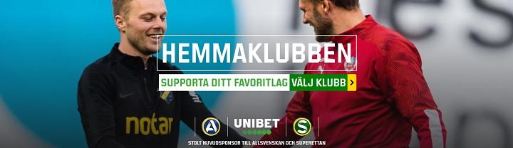 Unibet Hemmaklubb - stötta ditt lag i Allsvenskan